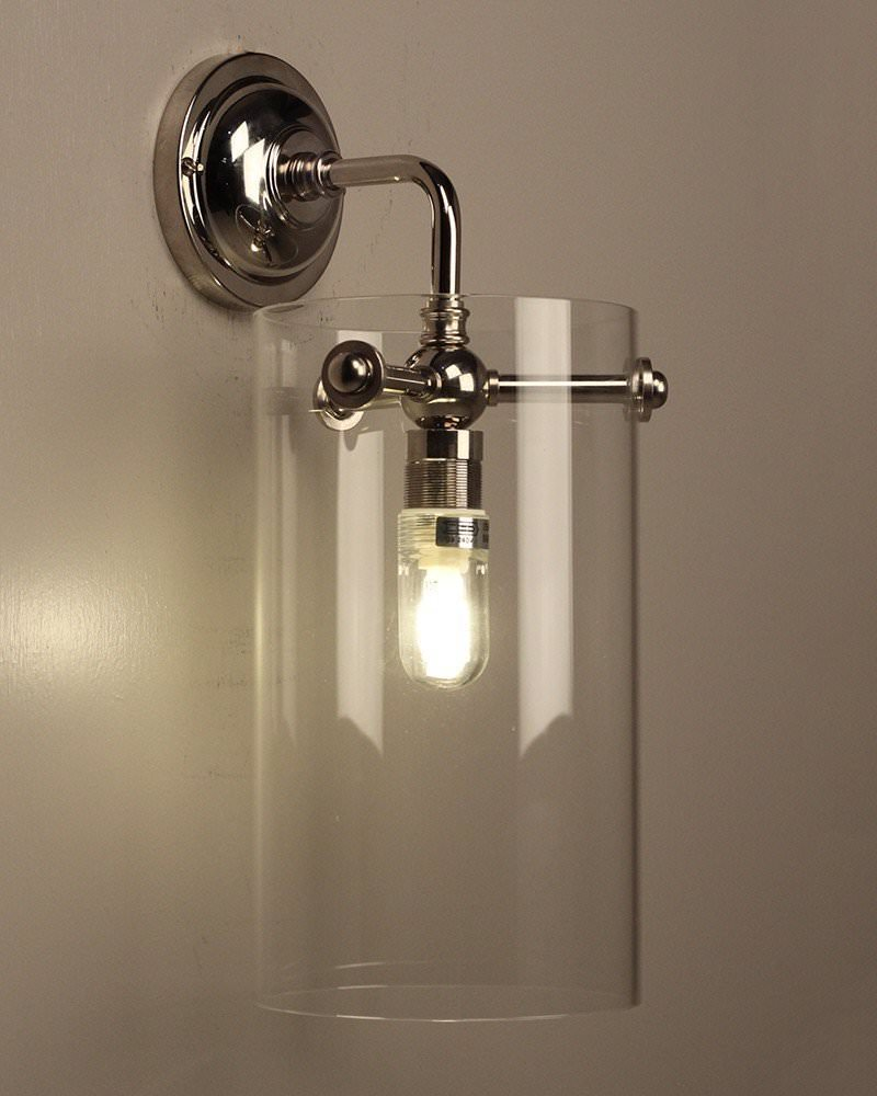 Clear Glass Sellack Wall Light, Retro Industrial Lighting