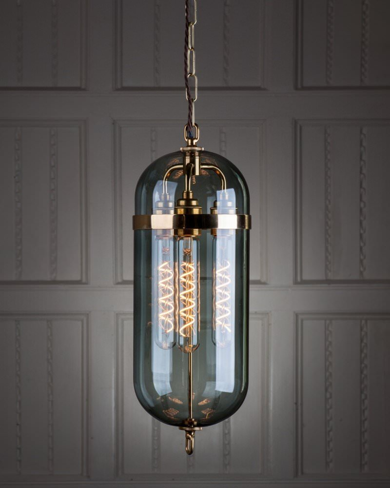 Commercial Lighting Co: The Aston Lantern With Smoked Glass, Ceiling Pendant Light