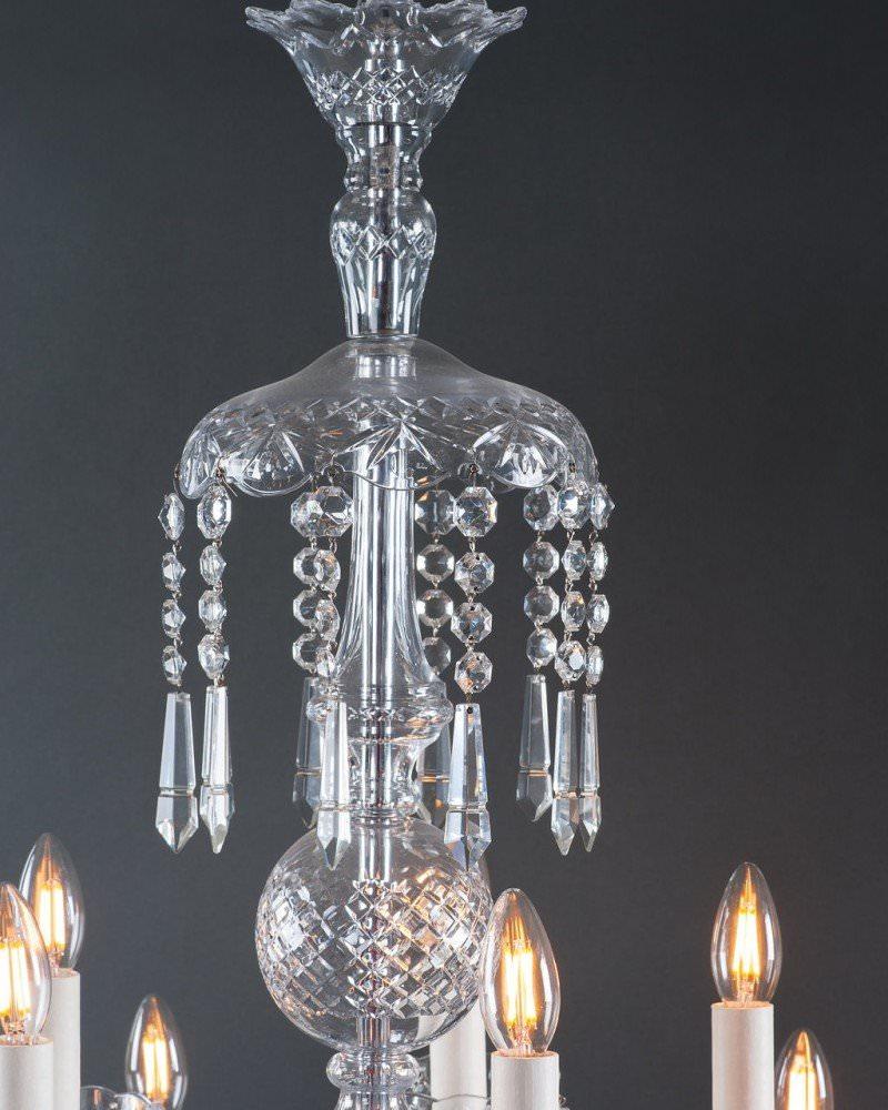 10 Branch Bohemian Antique Crystal Chandelier Lighting
