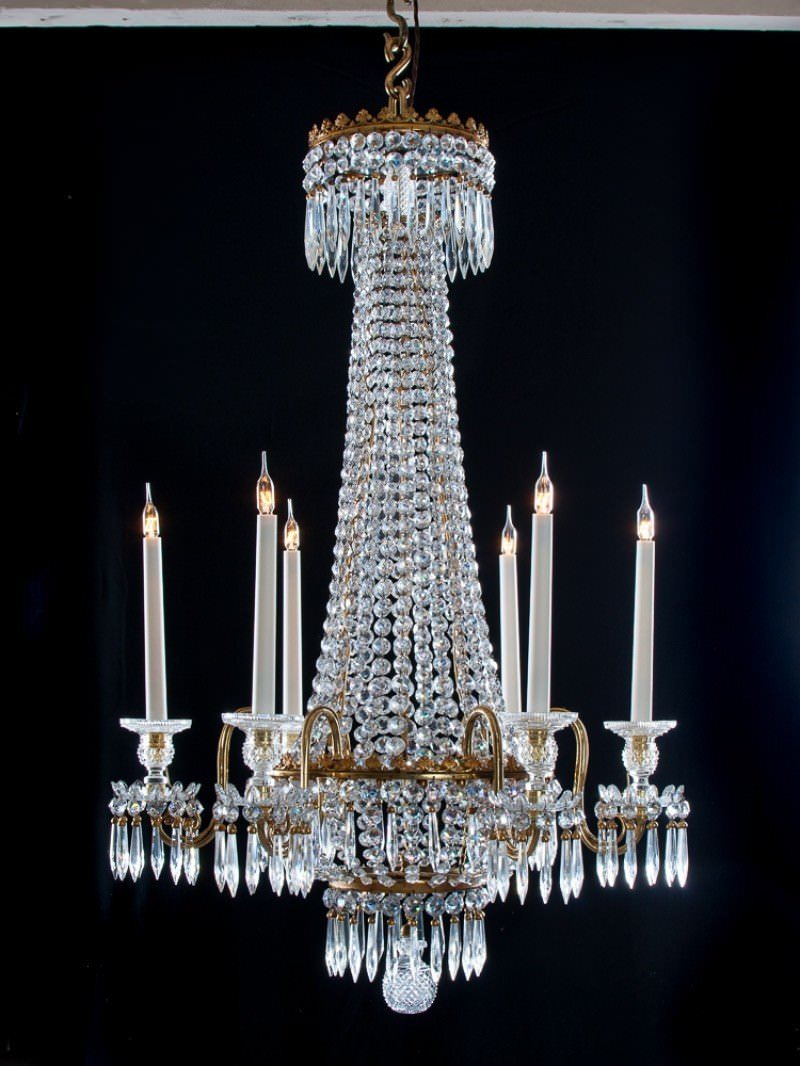 Regency crystal 6 armed chandelier attributed to hancock antique antique regency crystal 6 armed chandelier attributed to hancock antique lighting mozeypictures Gallery