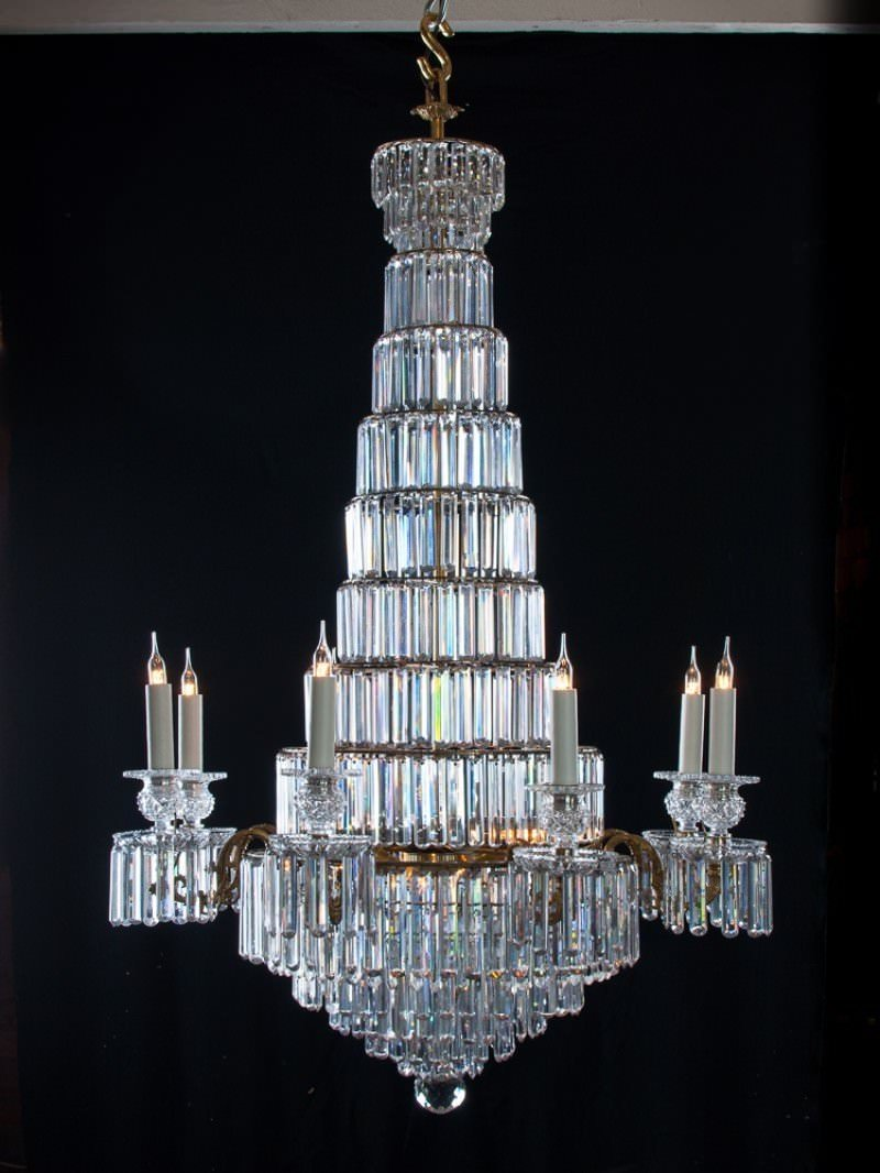 Regency 8 branch tiered crystal chandelier attrib john blades antique regency 8 branch tiered crystal chandelier attrib john blades antique lighting mozeypictures Gallery