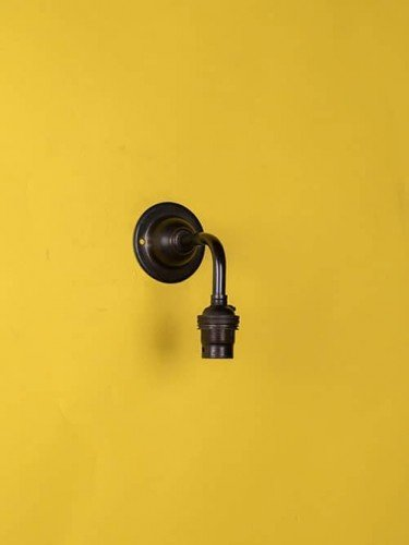 Industrial wall light bronze