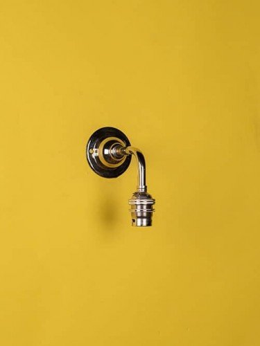 Industrial wall light nickel