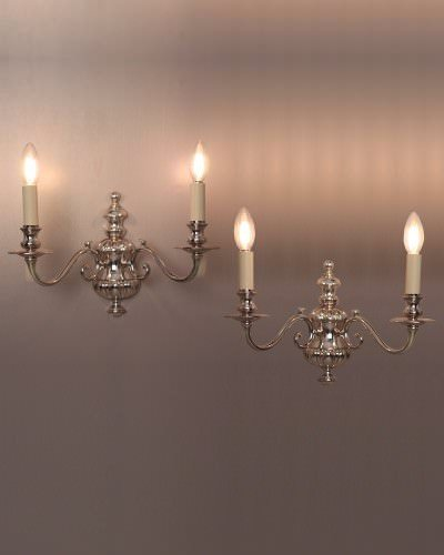 Gec Gadrooned Silver Plate Sconces (Pair), Vintage Retro Lighting