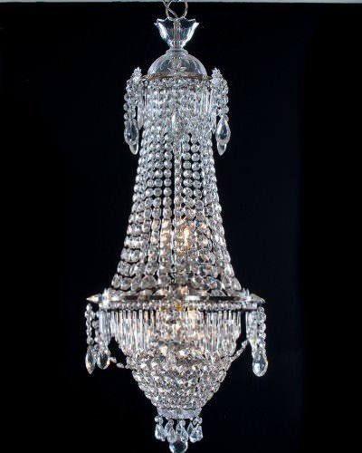 Waterfall Bag Antique Crystal Chandelier, Antique Lighting