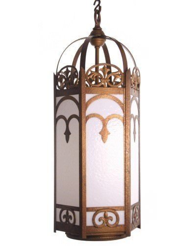 Large Gothic Harlequin Antique Lantern Light (1 Of 2)