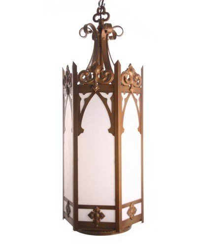 Large Gothic Harlequin Antique Lantern Light (2 Of 2)
