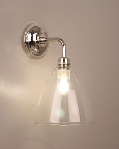 Fritz Fryer Handmade Ledbury Clear Glass Contemporary Wall light