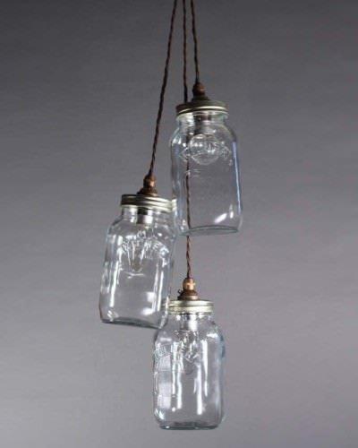 Stargaze Set Of 2 Hanging Mason Jar Pendant Lights By: Upcycled Mason Jar Pendant Ceiling Lights, Vintage Retro