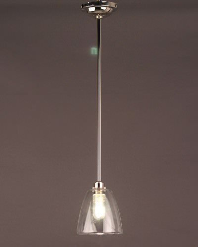 Clear Glass Bathroom Ceiling Light, Pixley Retro & Traditional Industrial Design Lighting (Ip44 Rated)