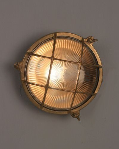 Circular Bulk Head Wall Or Ceiling Light, Retro Industrial Lighting