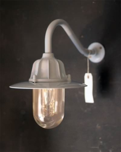 Swan Neck Outdoor Light Grey