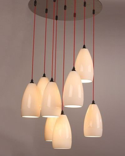 The Upton ceramic cluster chandelier features multiple ceramic pendants in a cluster