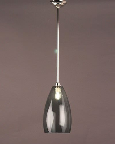Smoked Glass Pendant Ceiling Bathroom Light, Upton Retro & Contemporary Design (Ip44 Rated)