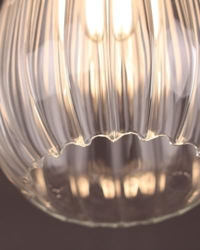 Fluted edge glass shade - the Wellington Pendant from Fritz Fryer