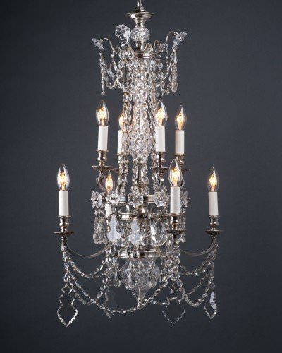 Pair Of Superb Quality Crystal Chandeliers By F & C Osler, Antique Lighting