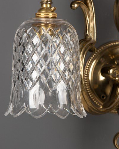 antique cut glass crystal shade