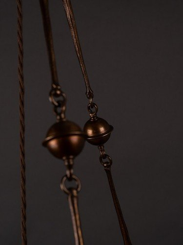 Brass Plafonnier by Osler with gorgeous original glass chain detail