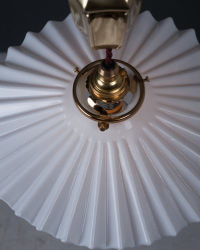 rise and fall antique light coolie shade frilled white