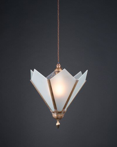 Art Deco White Glass Sun Ray Pendant Light, Antique Lighting