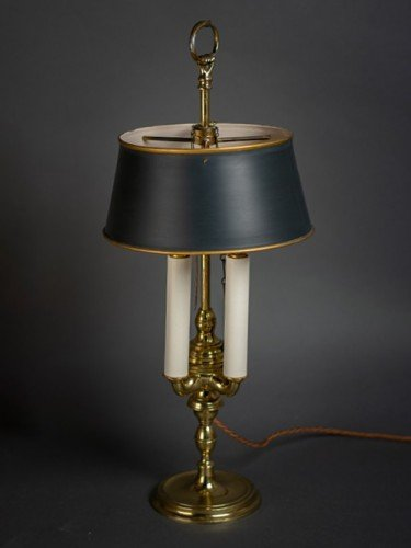 Rare french period restored bouillotte table lamp lights off