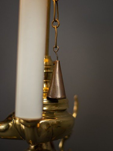 Rare french period restored bouillotte table lamp adjustments