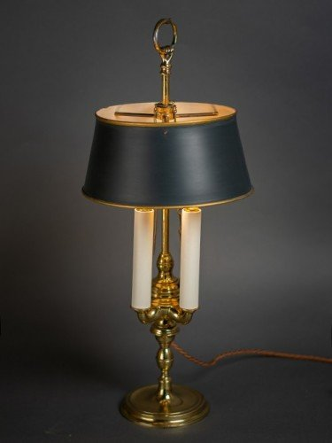 Rare french period restored bouillotte table lamp lights on