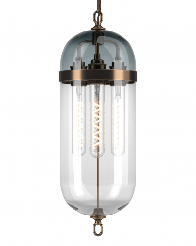 Aston lantern with smoked glass top