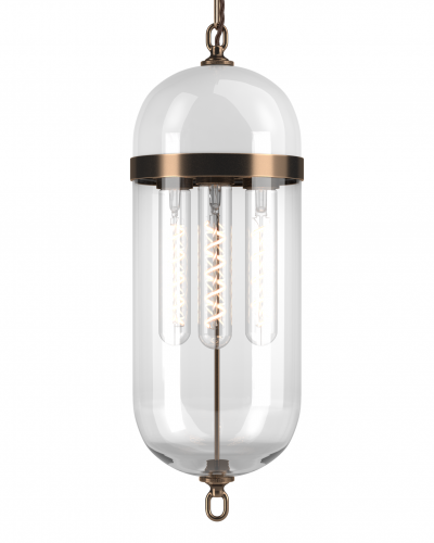 Aston Lantern with White glass top