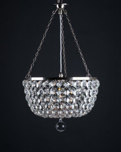 Foy Low Ceiling Crystal Chandelier, Retro Lighting