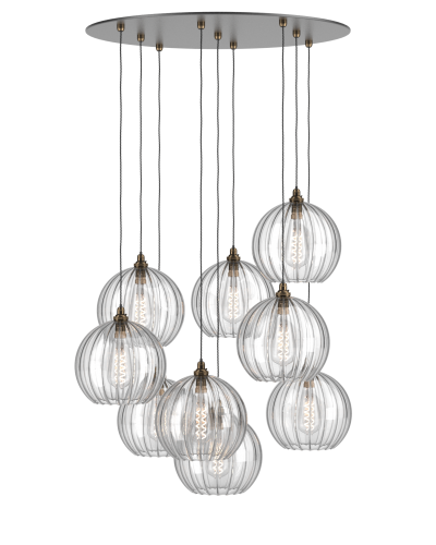 new york 24a5f ea85c Customisable Glass Globe Cluster Ceiling Light - Staged ...