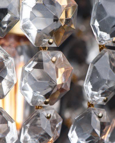 Small Tarrington Crystal Bag Chandelier Retro Lighting