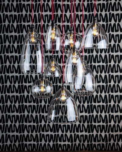 multi pendant cluster chandelier various shades Herefordshire clear