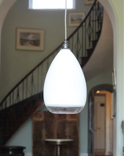 Teardrop Cafe Glass Ceiling Pendant Light, Wellington Contemporary Lighting
