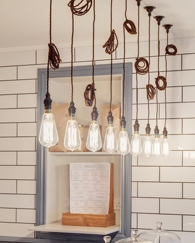 Retro Vintage Braided Twist Flex (1m) Pendant Light Set, Many Colours And Materials Available