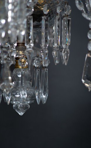 Antique Lighting Fritz Fryer Restored Crystal Chandelier Finial