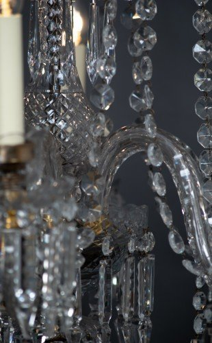Antique Lighting Fritz Fryer Restored Crystal Chandelier Centre Close up
