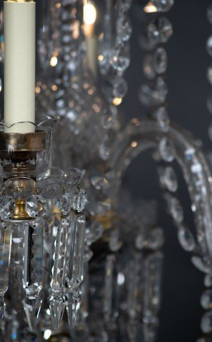 Antique Lighting Fritz Fryer Restored Crystal Chandelier E14 Bulb
