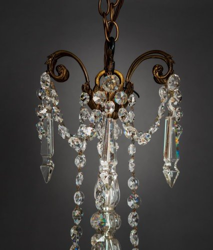 Circa 1900's Baccarat Crystal Chandelier  Top Section, Crystal