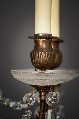 Circa 1900's Baccarat Crystal Chandelier Lamp Holder Close Up