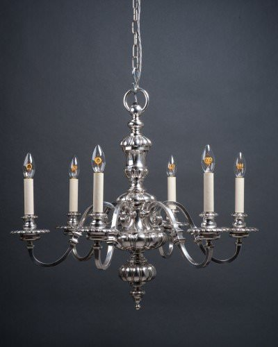 Silver plate antique chandelier
