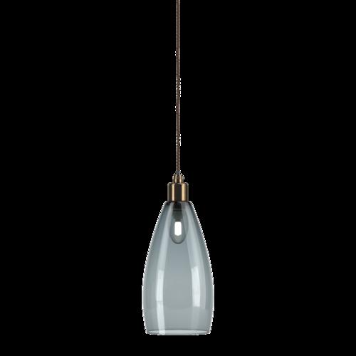 Smoked Glass Bathroom Pendant Ceiling Light Ip44 Upton