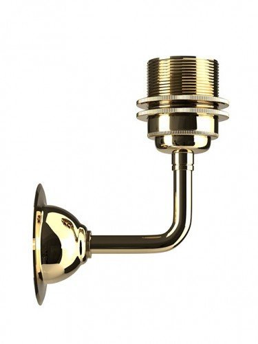 Industrial workshop lamp with E27 lampholder in Polished Brass
