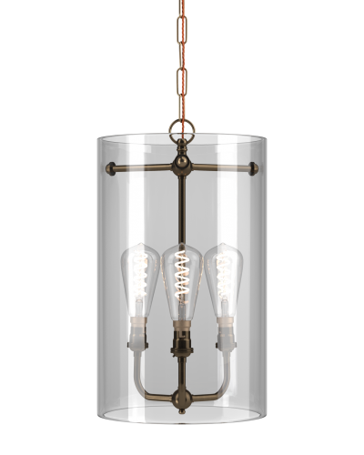 Clear Glass Sellack Lantern With Three Way Center, Retro Industrial Lighting