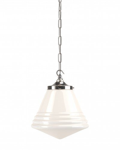 Cafe pendant lights with Deco styling
