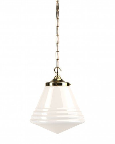 Retro Cafe Pendant light with polished brass metal finish