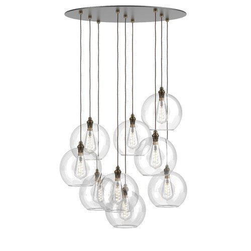 Hereford multi pendant cluster chandelier with glass globes
