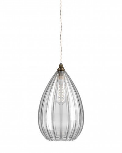 The teardrop shaped Wellington pendant is one of our most popular fittings.