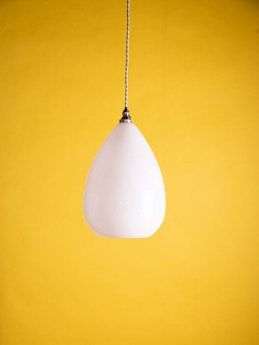 white glass wellington pendant light