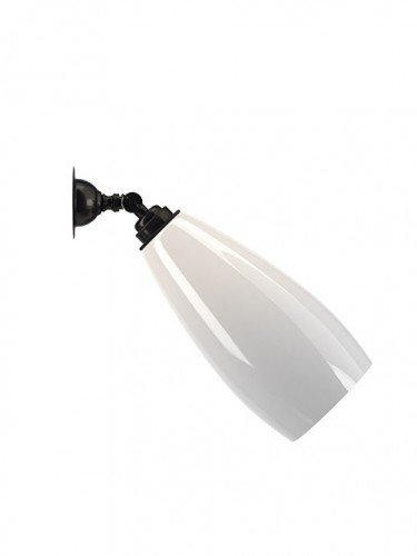 Contemporary lighting adjustable White glass Upton spotlight wall light in Bronze